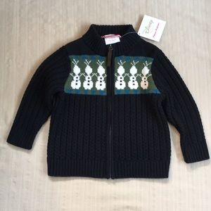 Hanna Andersson Disney's Frozen Olaf Zip Sweater